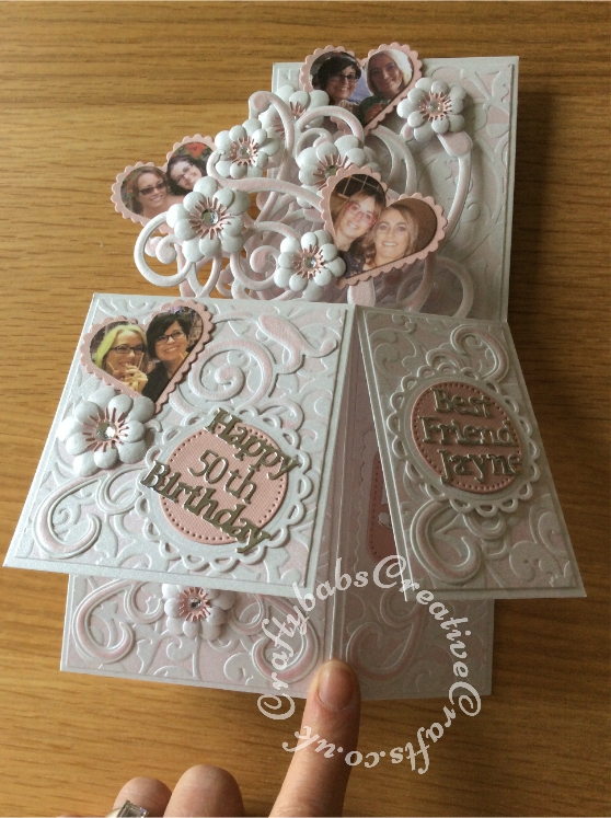 Pop Up 50th Birthday Card Made Using A Number Of Dies Including Spellbinders Nesting Plain