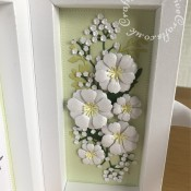 3D Shadow Box Wedding card made to co-ordinate with Invitation using various dies including Spellbinders nesting plain and scalloped hearts dies, Cheery Lynn Designs Die - Build a Flower Embellishment #2, Memory Box Fabulous Phlox dies, Memory Box die - Honeyblossom Sprig, Memory Box Norrland Flower dies, Tonic Studios Shadowbox Creation Die Set, Tonic Studios Large Romantic Vine Ovals die set and XCut Mini Handmade With Love Cutting Die, - craftybabscreativecrafts.co.uk