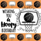 Basketball themed Digital Click and print card front made using free Digi stamp downloads from Craftworld Premium members Club and Craft Artist Professional Software. - craftybabscreativecrafts.co.uk