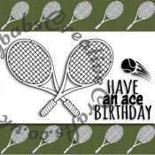 Tennis themed Digital Click and print card front made using free Digi stamp downloads from Craftworld Premium members Club and Craft Artist Professional Software. - craftybabscreativecrafts.co.uk