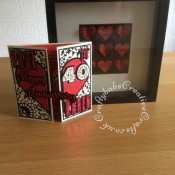 40th Ruby Wedding Anniversary card and framed picture, made using various dies including: Couture Adoring die set, Crealies Alfies 3 alphabet die set, Sizzix Originals shadow box numbers dies, iCraft Happy Anniversary dies, Spellbinders nesting hearts dies and various Hot foil dies. - craftybabscreativecrafts.co.uk