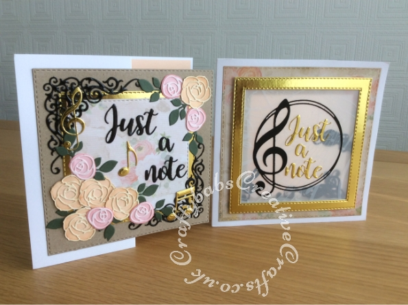 Just a note cards made using the contents of the Papercraft Society Box June 2020 Olga Direktorenko - plus - card blanks, glossy accents, nesting stitched square dies and kraft, pink, cream & green card stock. - craftybabscreativecrafts.co.uk