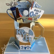 Celebration Tankard made using a template from Amethyst Paper Craft Designs CDROM Gentleman's club Tankard, decorated with die cuts using a variety of dies. including Custom made wooden Beer Bottle Die, Spellbinders Golf die, Marianne Design Collectables Men's Wardrobe Die, Cuttlebug Sports Balls Tag Team Disney Cuttlebug 3×3 Cut and Emboss Die set for football, Sizzix Sizzlits Fruit Smoothie Alphabet, Sentiment from The Tattered Lace Zig Zag Cascade die set, Aeroplane dies from the Xcut Build a scene All aboard round the world dies set and numbers dies from the Spellbinders Cargo alphabet die set. - craftybabscreativecrafts.co.uk