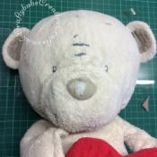 Bear Nose repair - craftybabscreativecrafts.co.uk