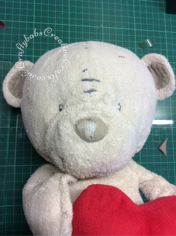 Bear Nose repair - craftybabscreativecrafts.co.uk