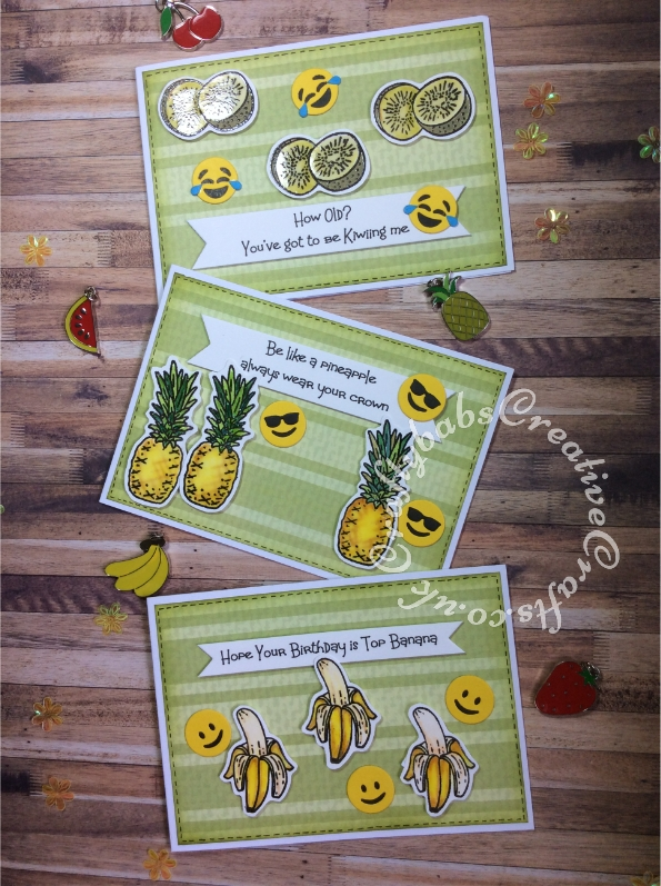 Fun 'punny' cards made using the stamps from issue 98 of Creative Stamping Magazine and sentiments printed on computer - craftybabscreativecrafts.co.uk